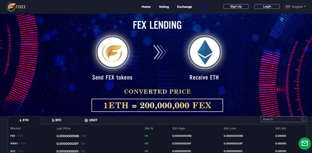 fidex lending platform