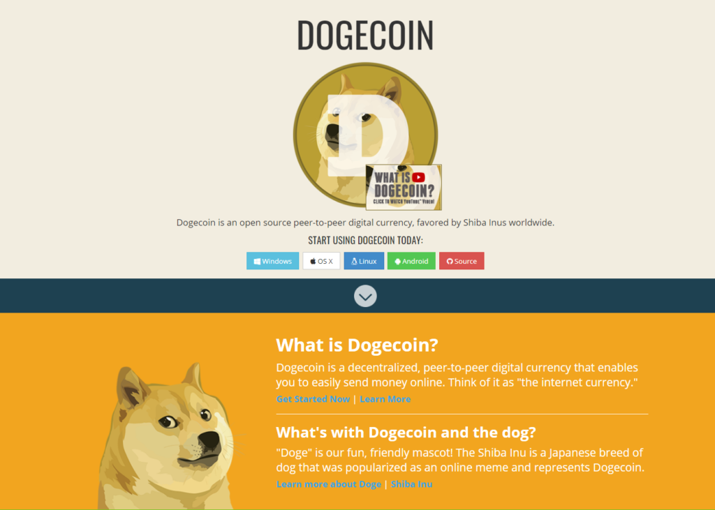 dogecoin cryptocurrency website